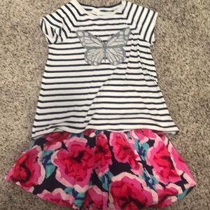 Gymboree skirt and shirt